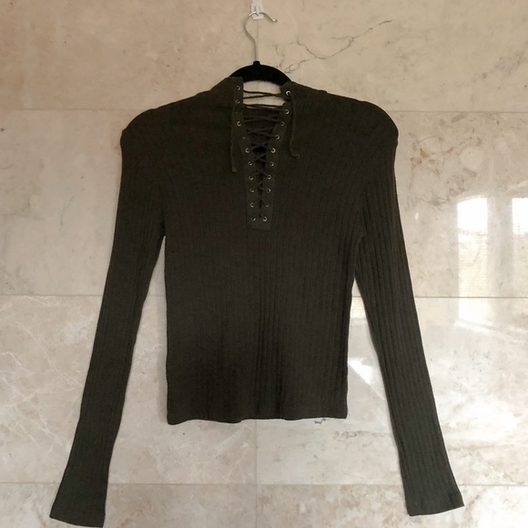 Long-sleeve Knit Top.